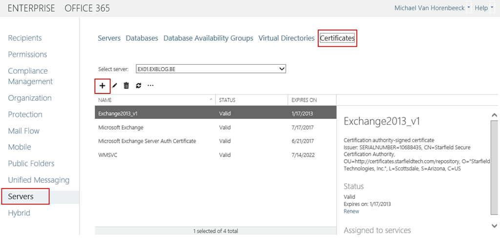 Configuring Certificates In Exchange Server 2013 Preview Insight 365